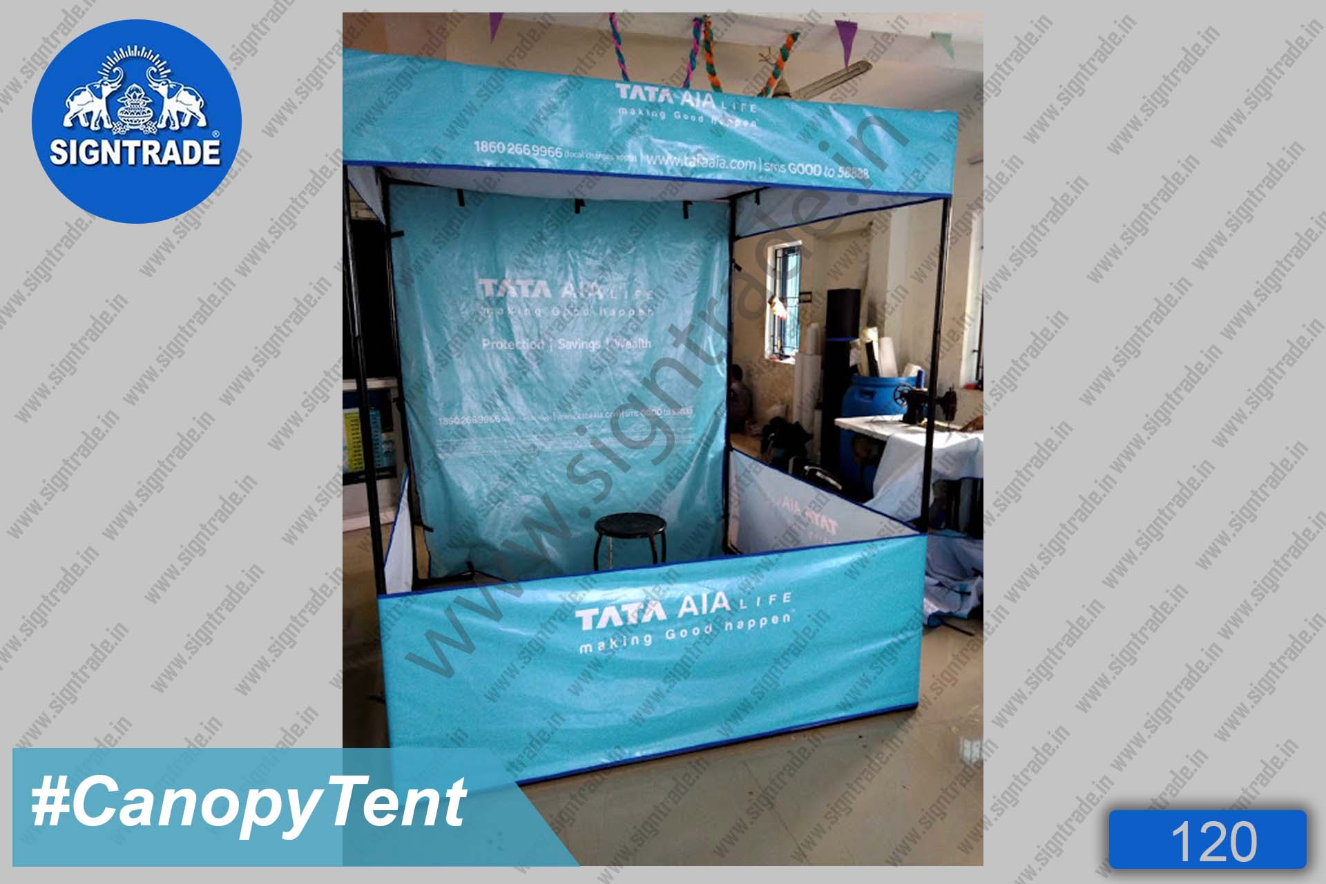 TATA - AIA life insurance - Canopy Tent, Flat Roof Tent