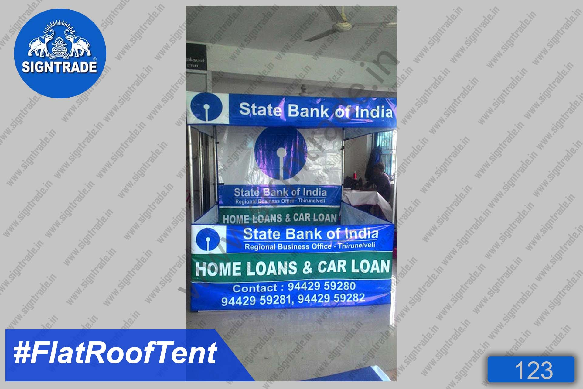 State Bank of India (Home & Car Loans) - Canopy Tent, Flat Roof Tent