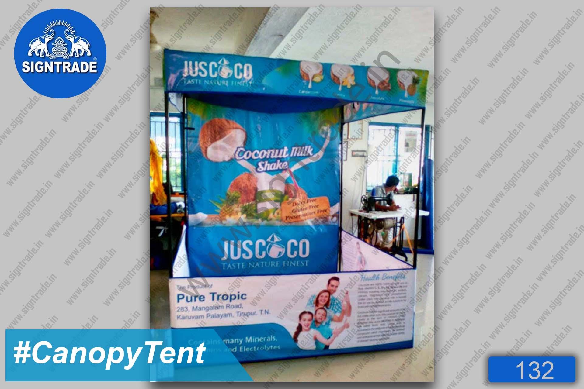 Pure tropic Coconut Milk Shake - Canopy Tent, Flat Roof Tent