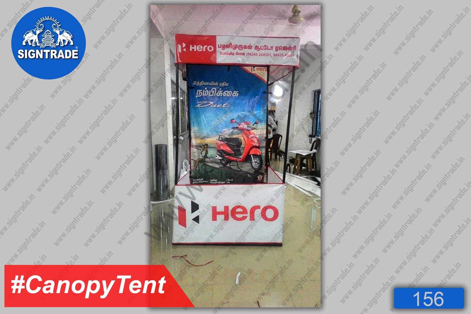 Flat Roof Tent, Canopy Tent - Hero - Palani Murugan Auto Agency