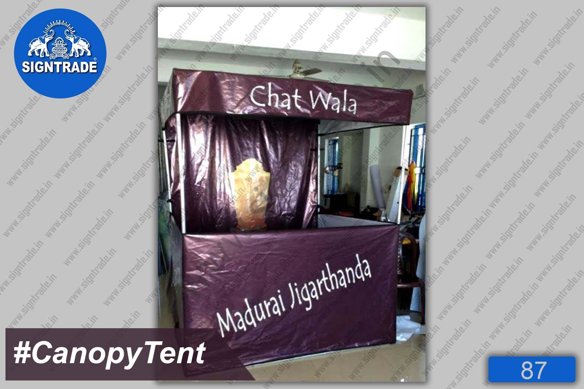 Flat Roof Tent, Canopy Tent - Chat Wala - Madurai Jigarthanda