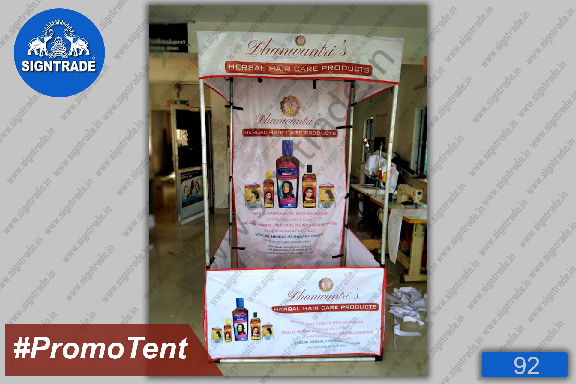 Flat Roof Tent, Canopy Tent - Dhanwantari Herbal Care