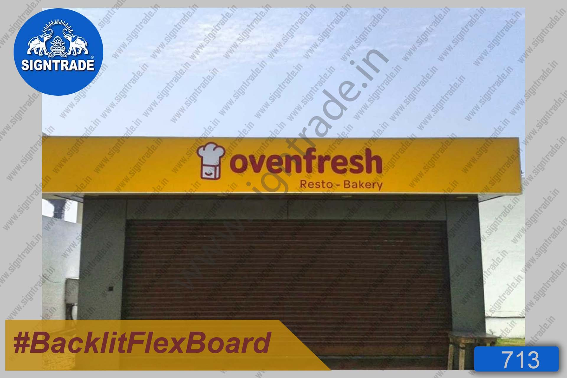 Oven Fresh Resto Bakery - Backlit Flex Board