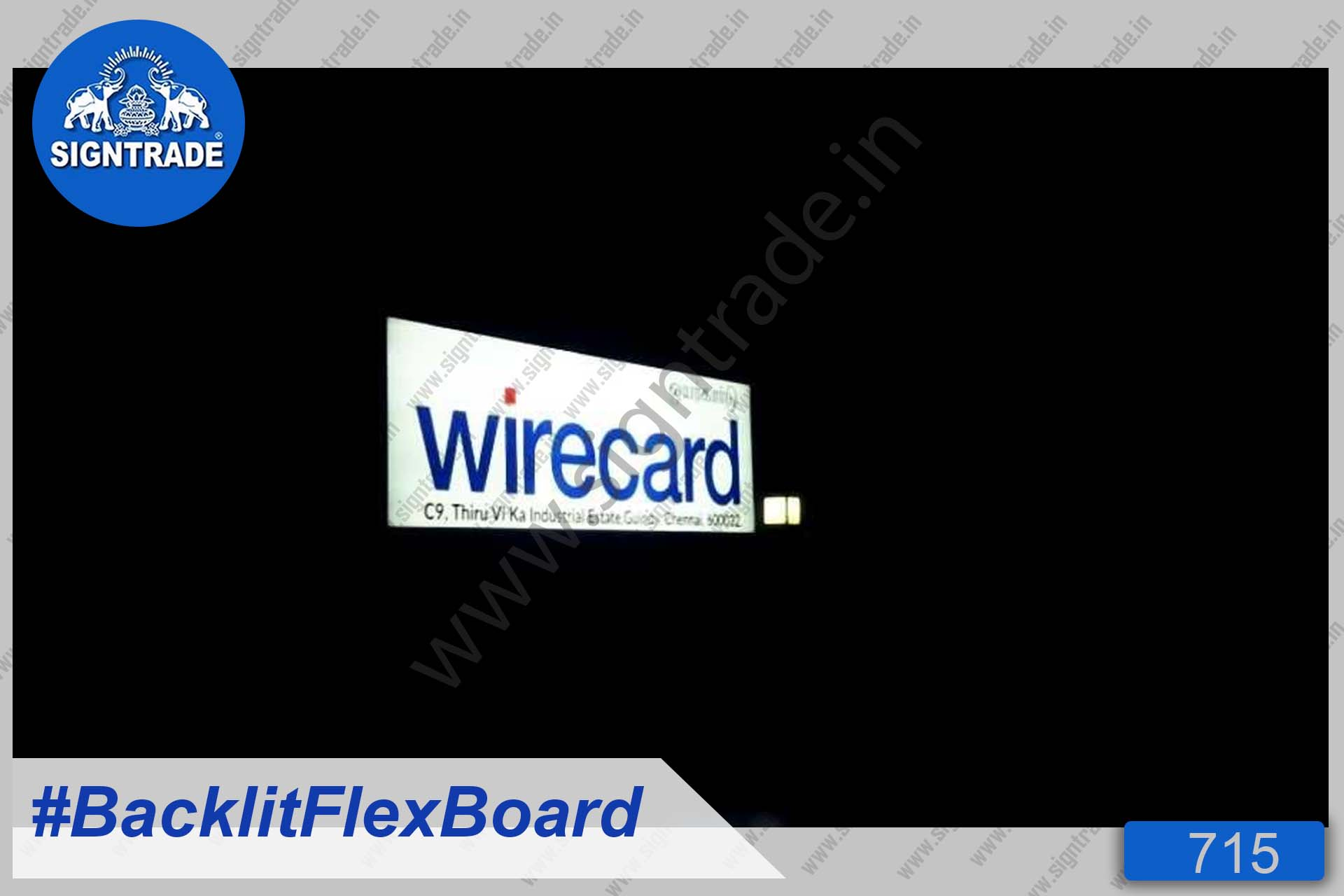 Wirecard Financial services company - Backlit Flex Board