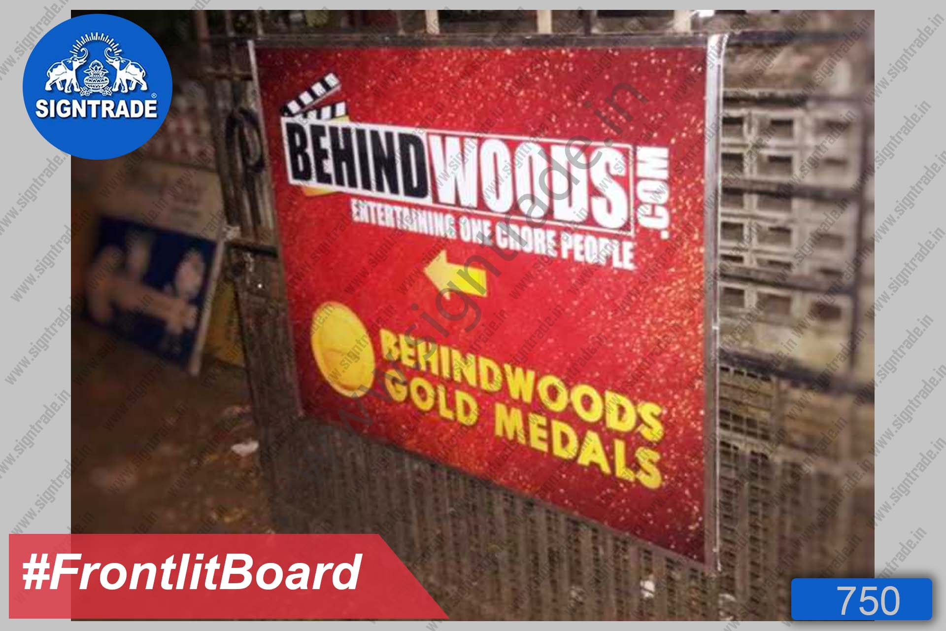 Behind Woods - Frontlit Flex Board