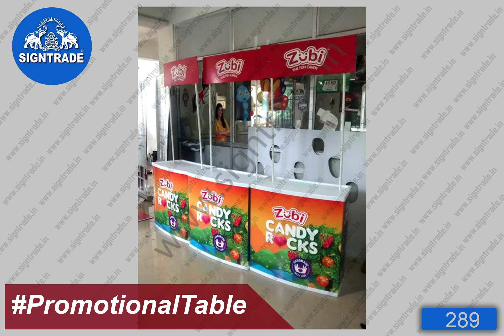 Zubi Candy Rocks - Promotional Table