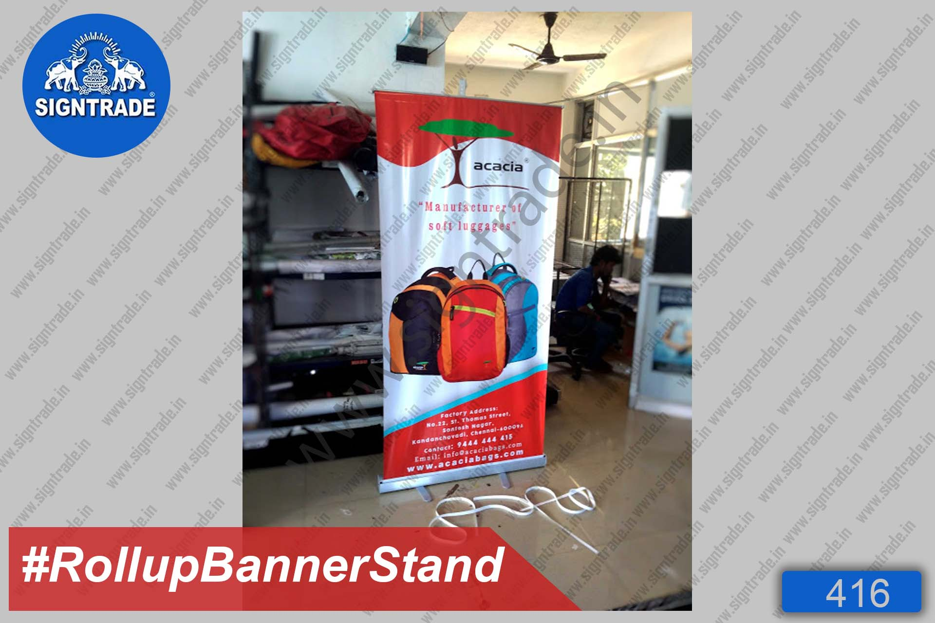 Acacia Manufacturer of Soft Luggage - Roll Up Banner Stand