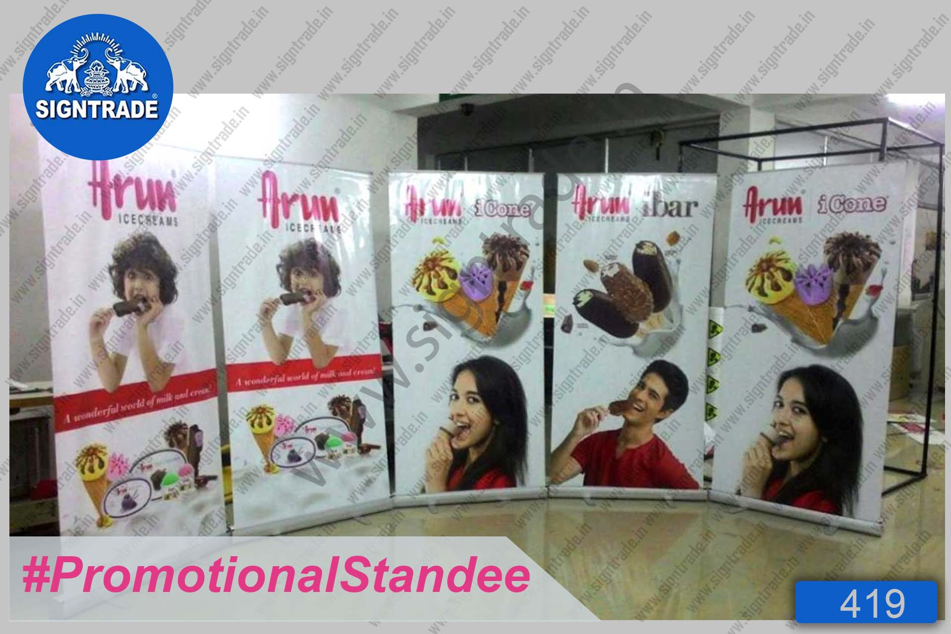 Arun Ice Creams - Roll Up Banner Stand