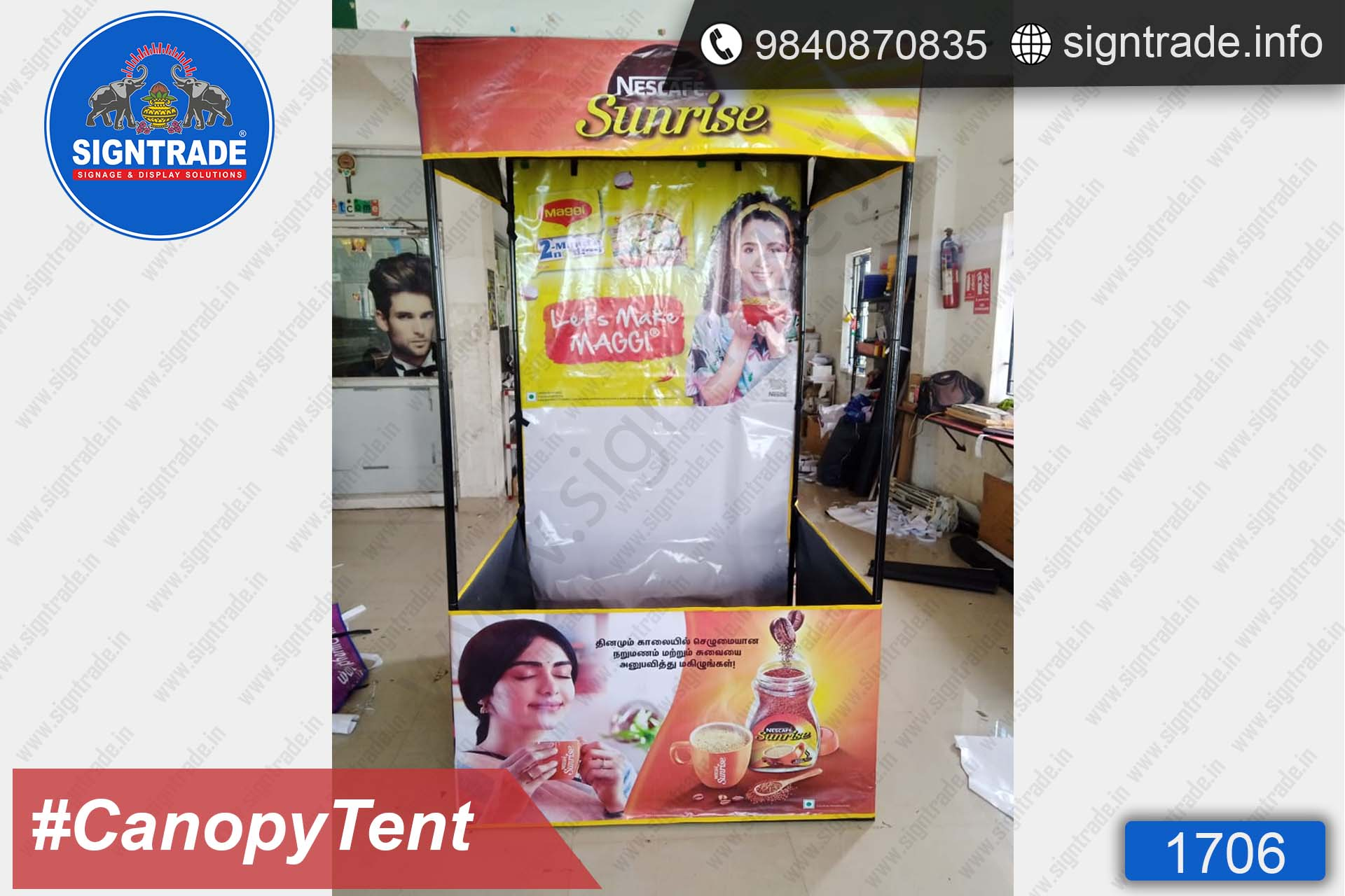 Nescafe Sunrise - Canopy Tent - SIGNTRADE - Promotional Canopy Tent Manufacturers in Chennai