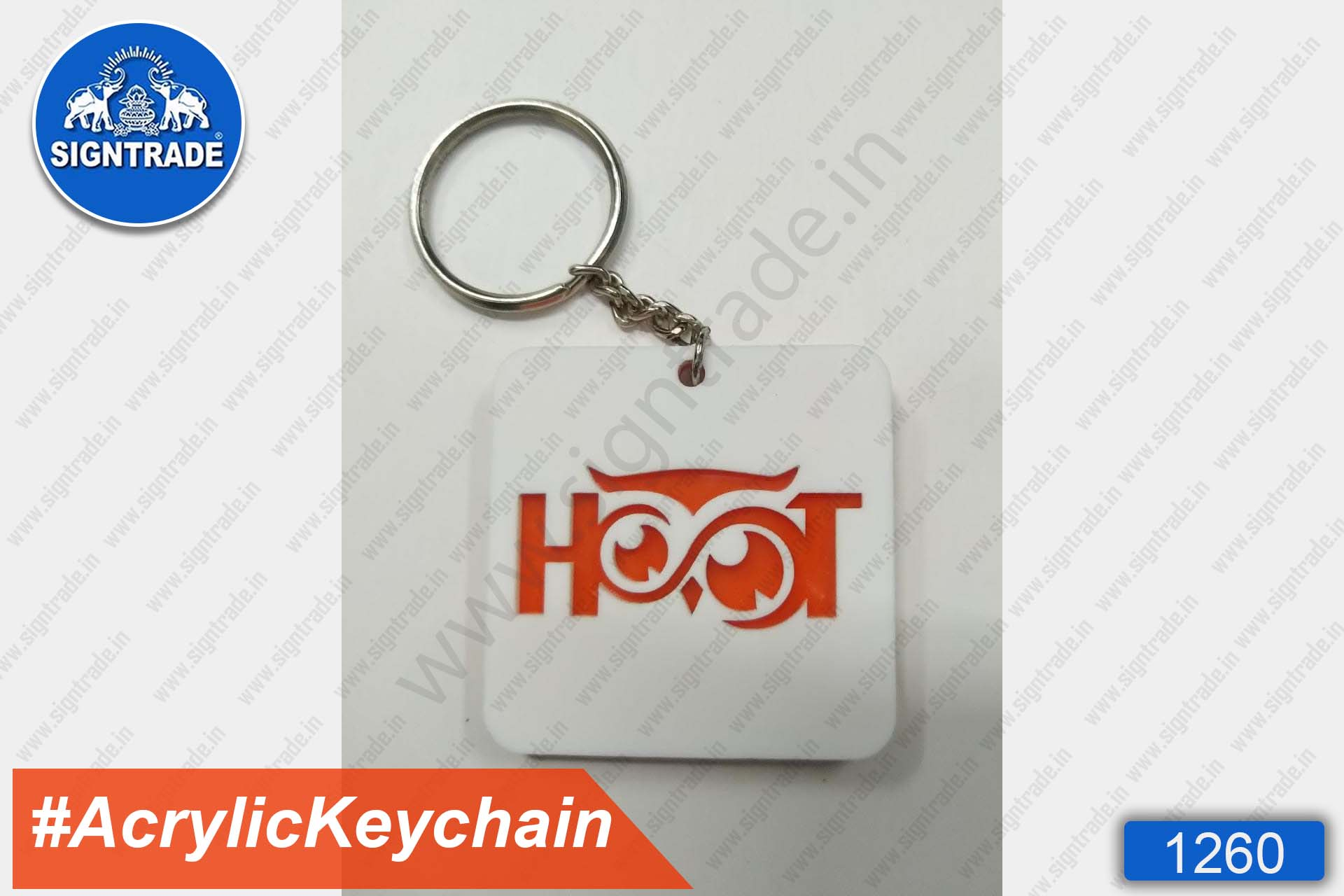 Acrylic Double Sided Keychain