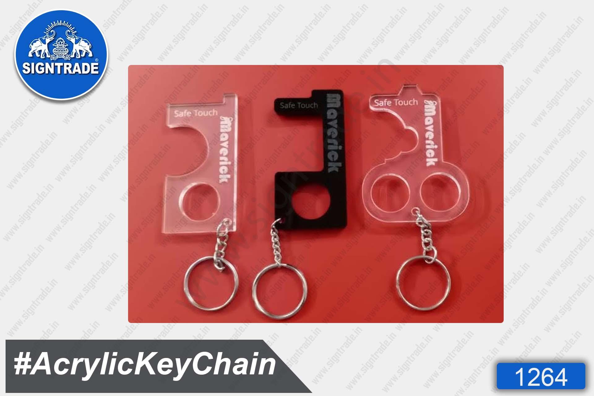 Acrylic Safetouch Keychain (Black)