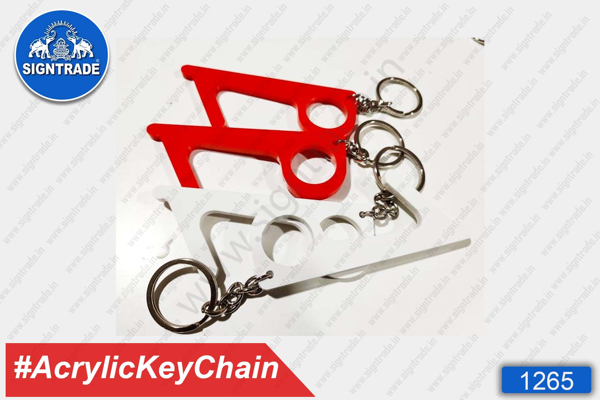 Acrylic Safetouch Keychain (Red)