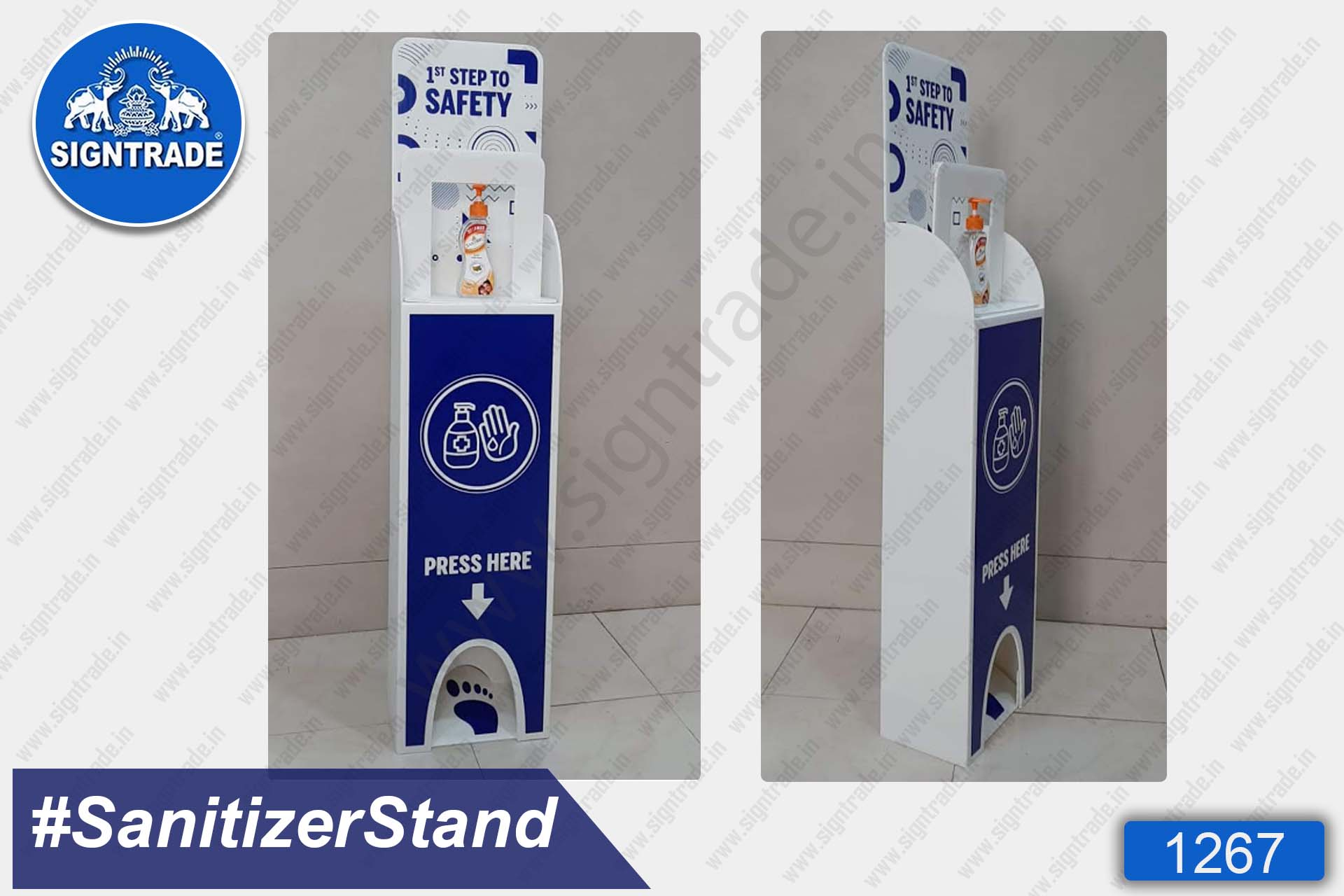 Sanitizer Stand (Blue)