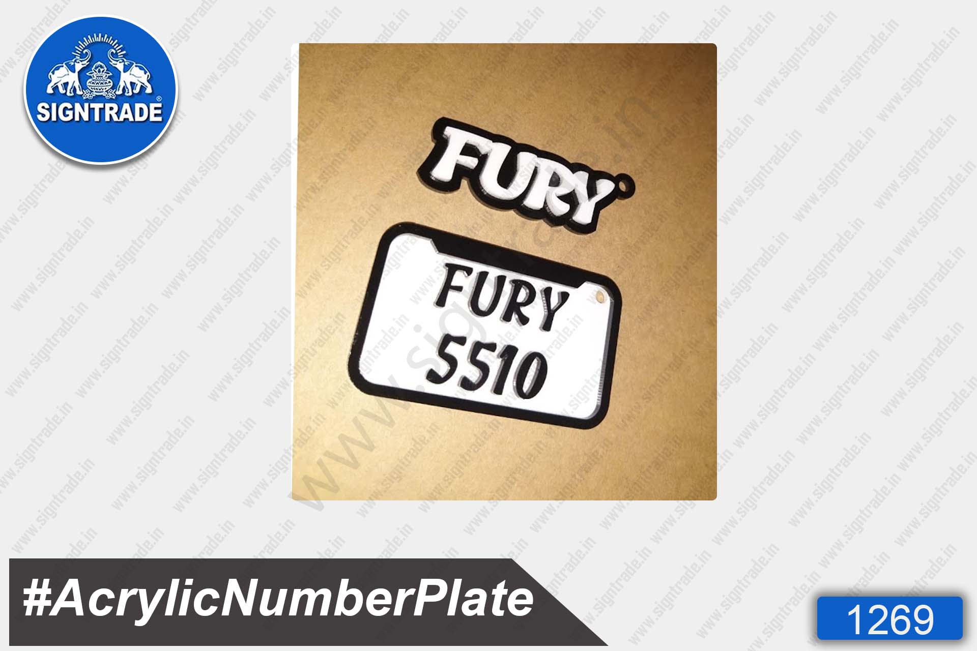 Acrylic Bike Number Plate