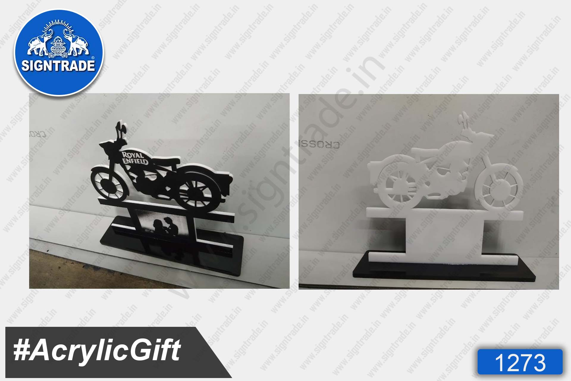 Acrylic Bike Sign Gift (Royal Enfield)