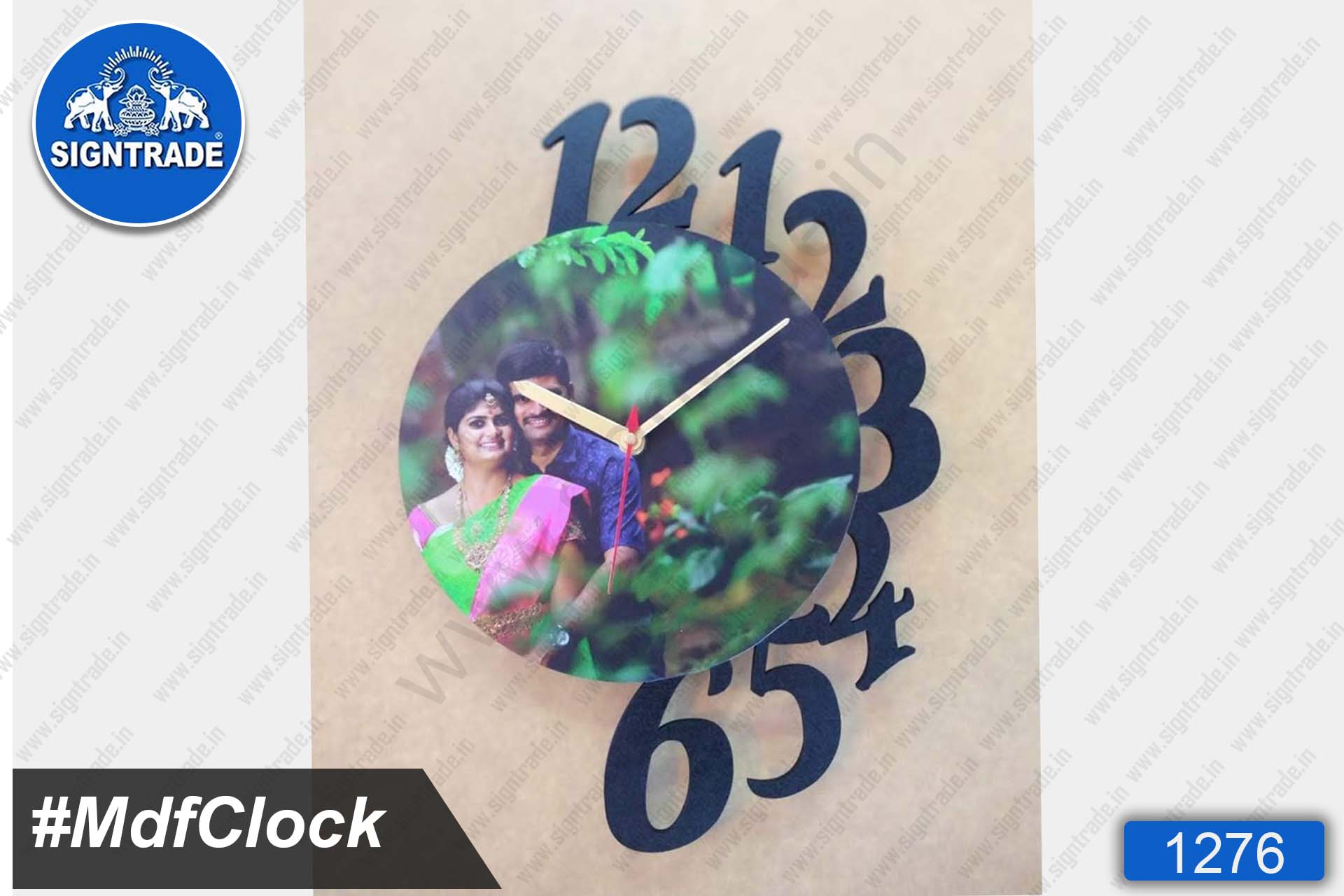 MDF Wall Clock with Photo