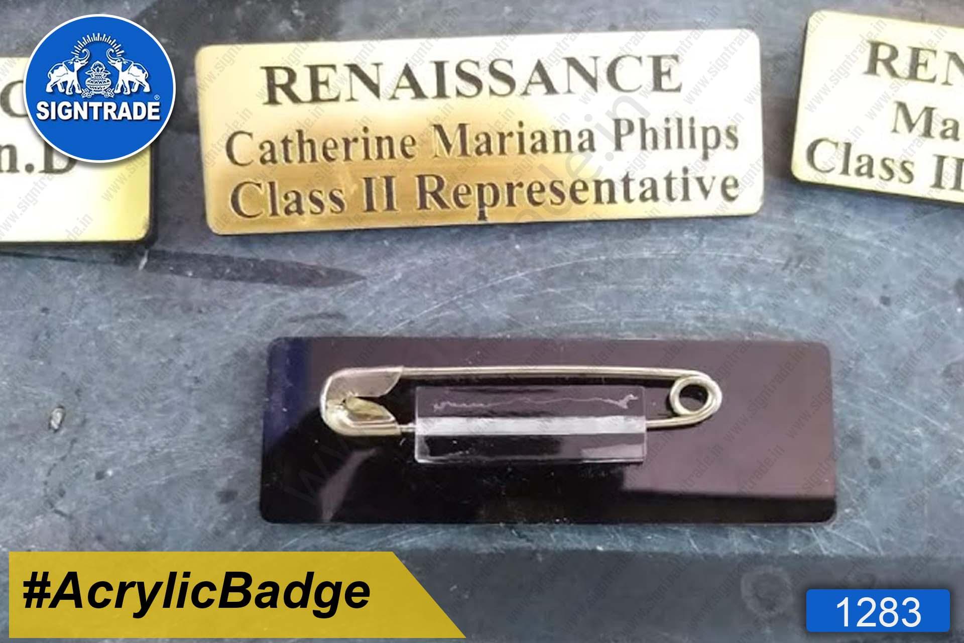 Acrylic Name Badge