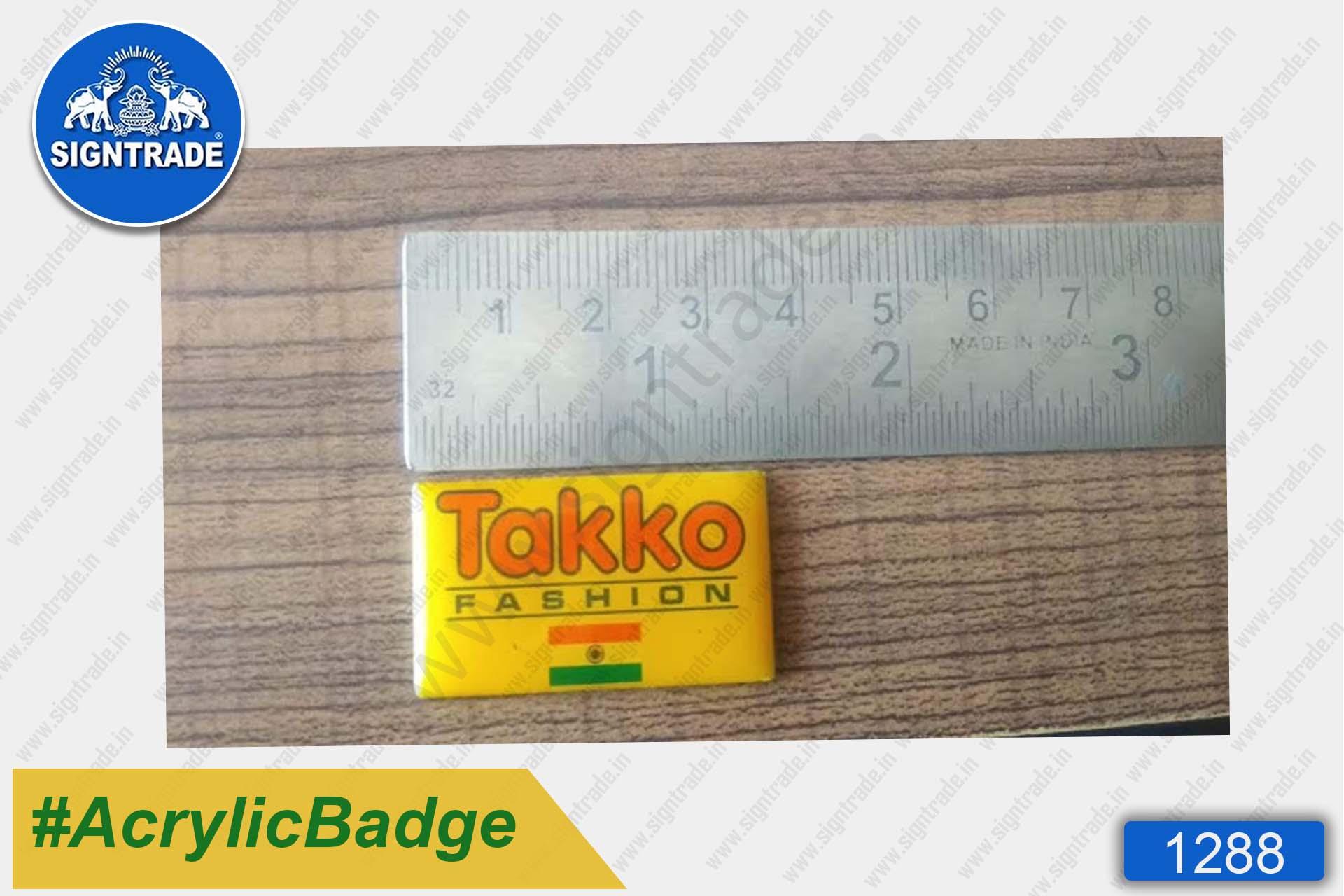 Acrylic Yellow Badge