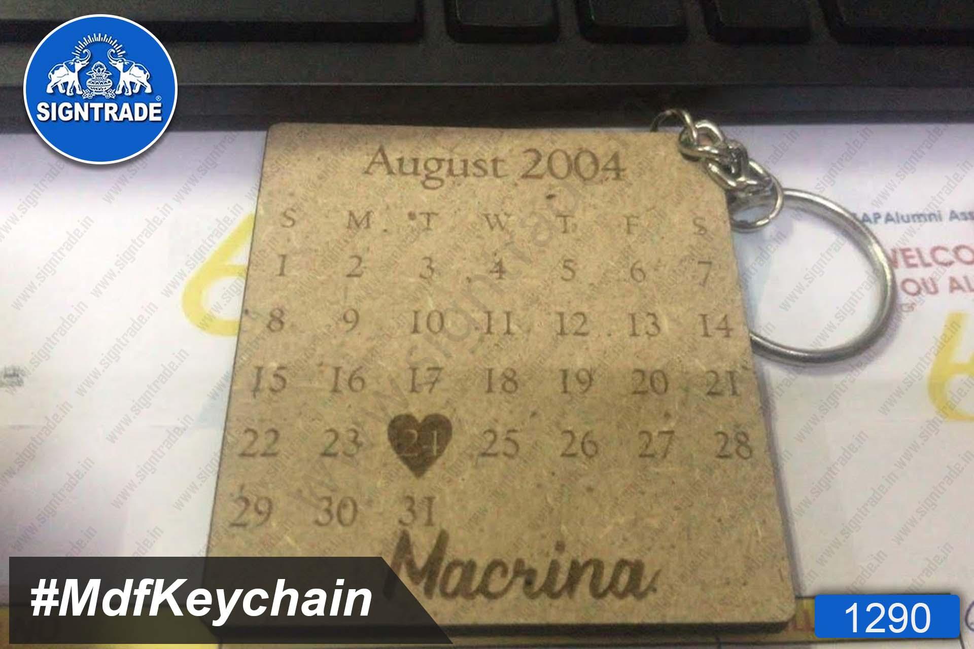 MDF Calendar Keychain