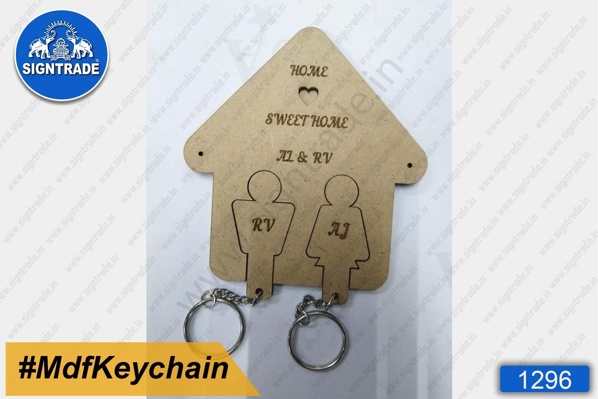 MDF Couple Sweet Home Keychain