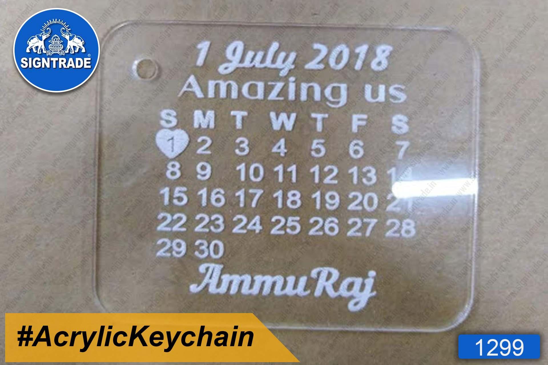 Acrylic Month Keychain (Ammu Raj)