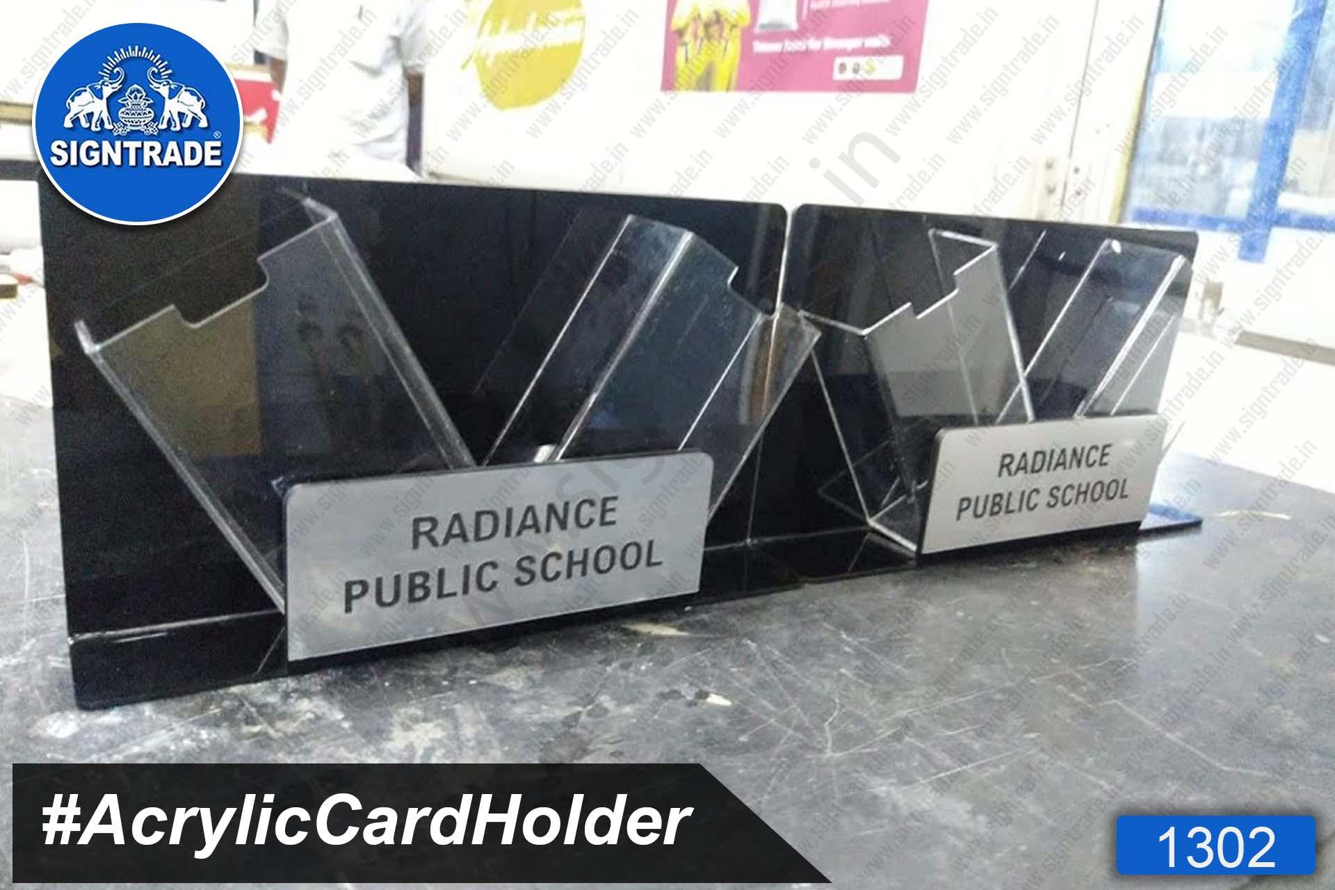 Acrylic Table Top Card Holder