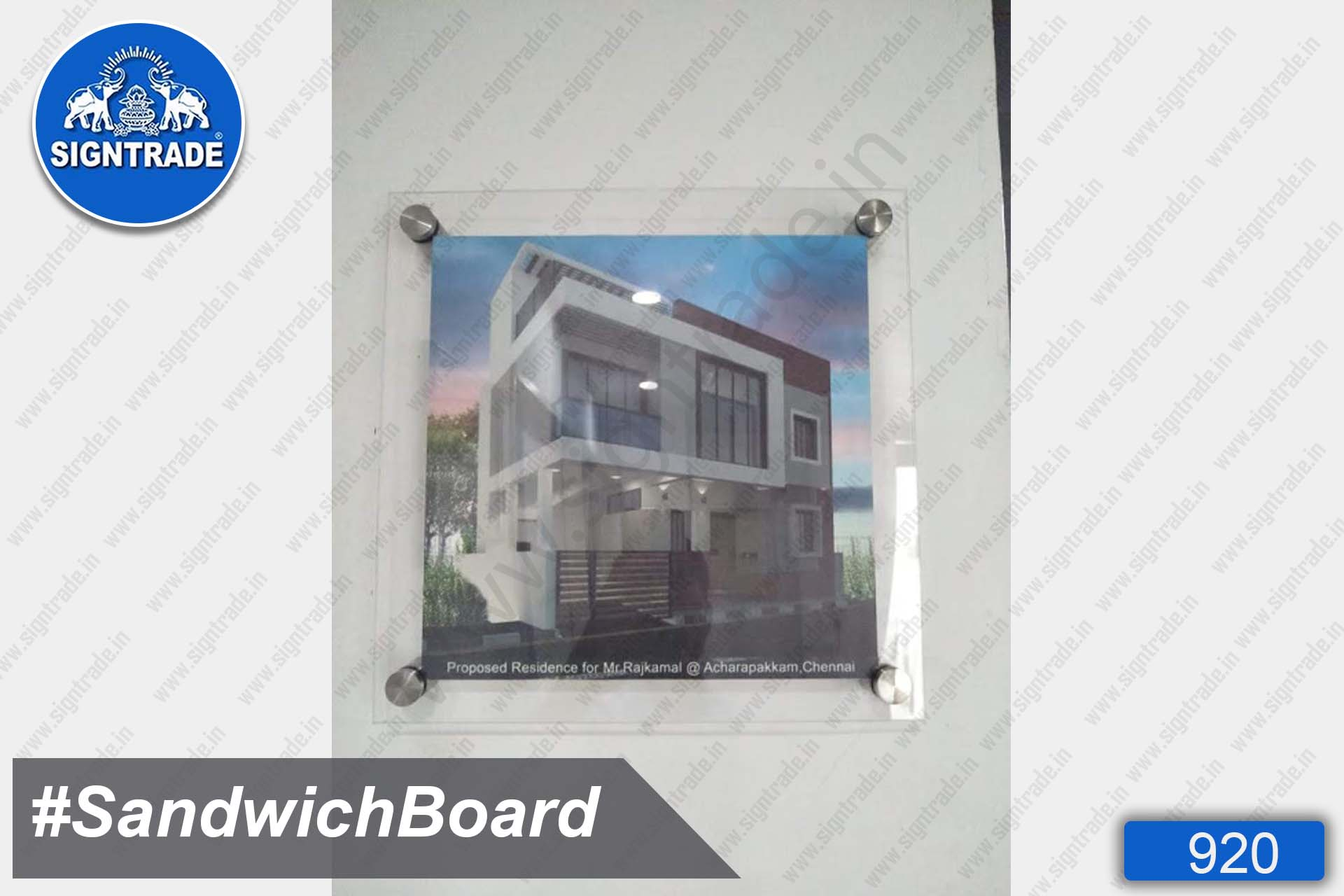 Rajkamal Constructions - Acrylic Display Sandwich Board