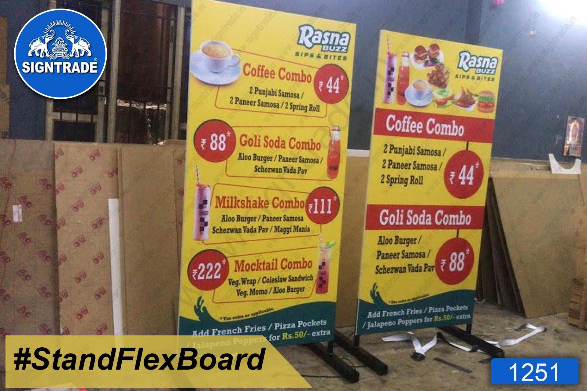stand up flex board