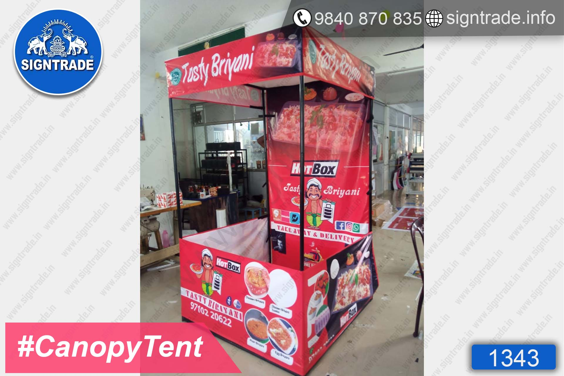 Tasty Briyani, Chennai - SIGNTRADE - Canopy Tent Manufactures in Chennai