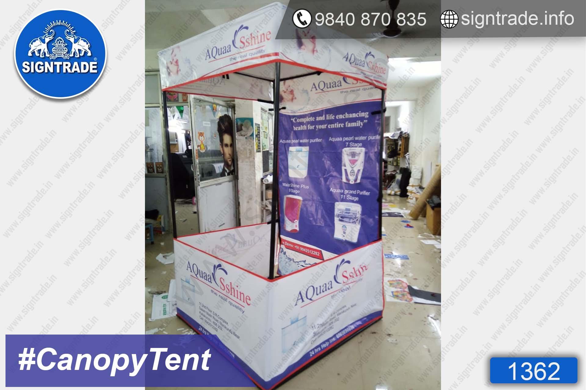 Aqua Shine - Chennai - SIGNTRADE - Canopy Tent Manufactures in Chennai