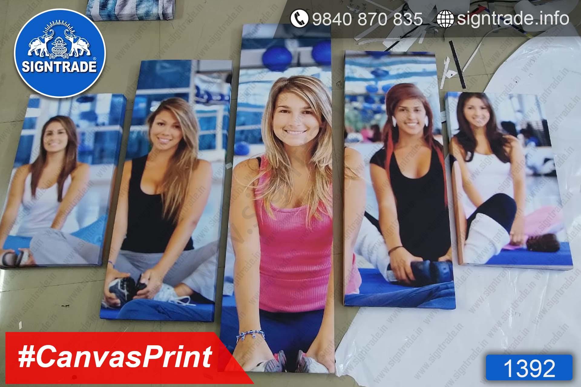 1392, Yoga Womens Canvas Print, Canvas Prints, personalised Canvas Prints, canvas art print, Custom canvas print