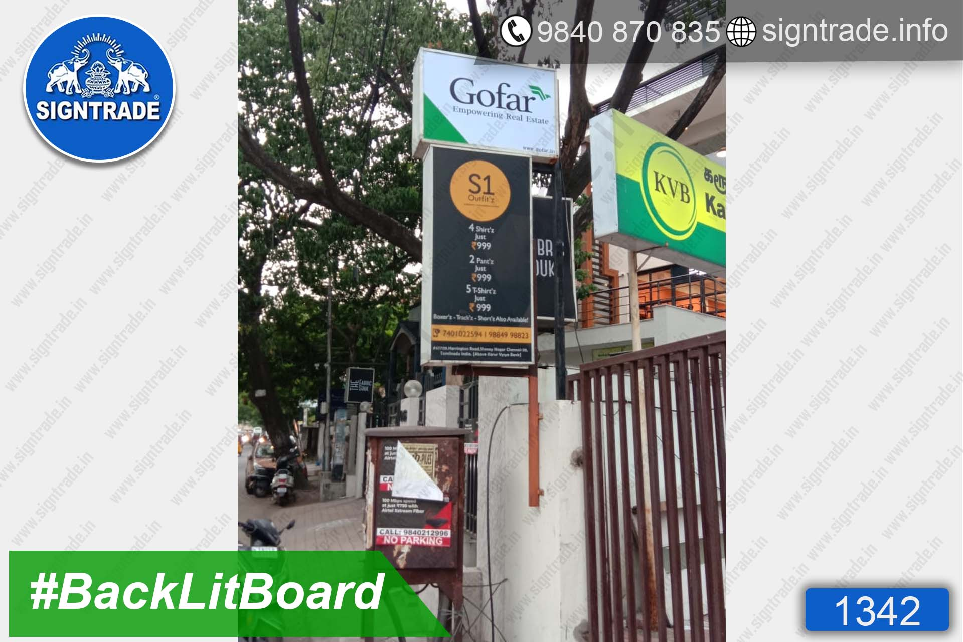 Gofar - Empowering Real Estate - Chennai - SIGNTRADE - BackLit Flex Board Manufacturers in Chennai