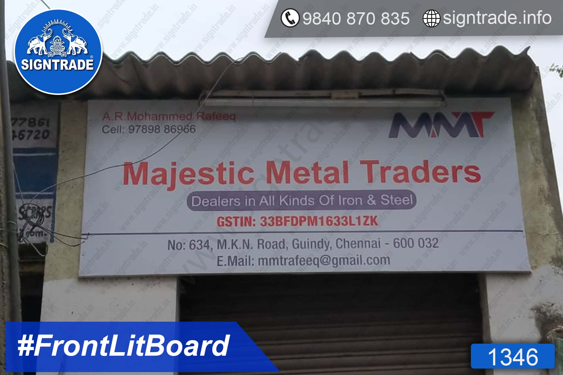 Majestic Metal Traders - Frontlit Flex Board
