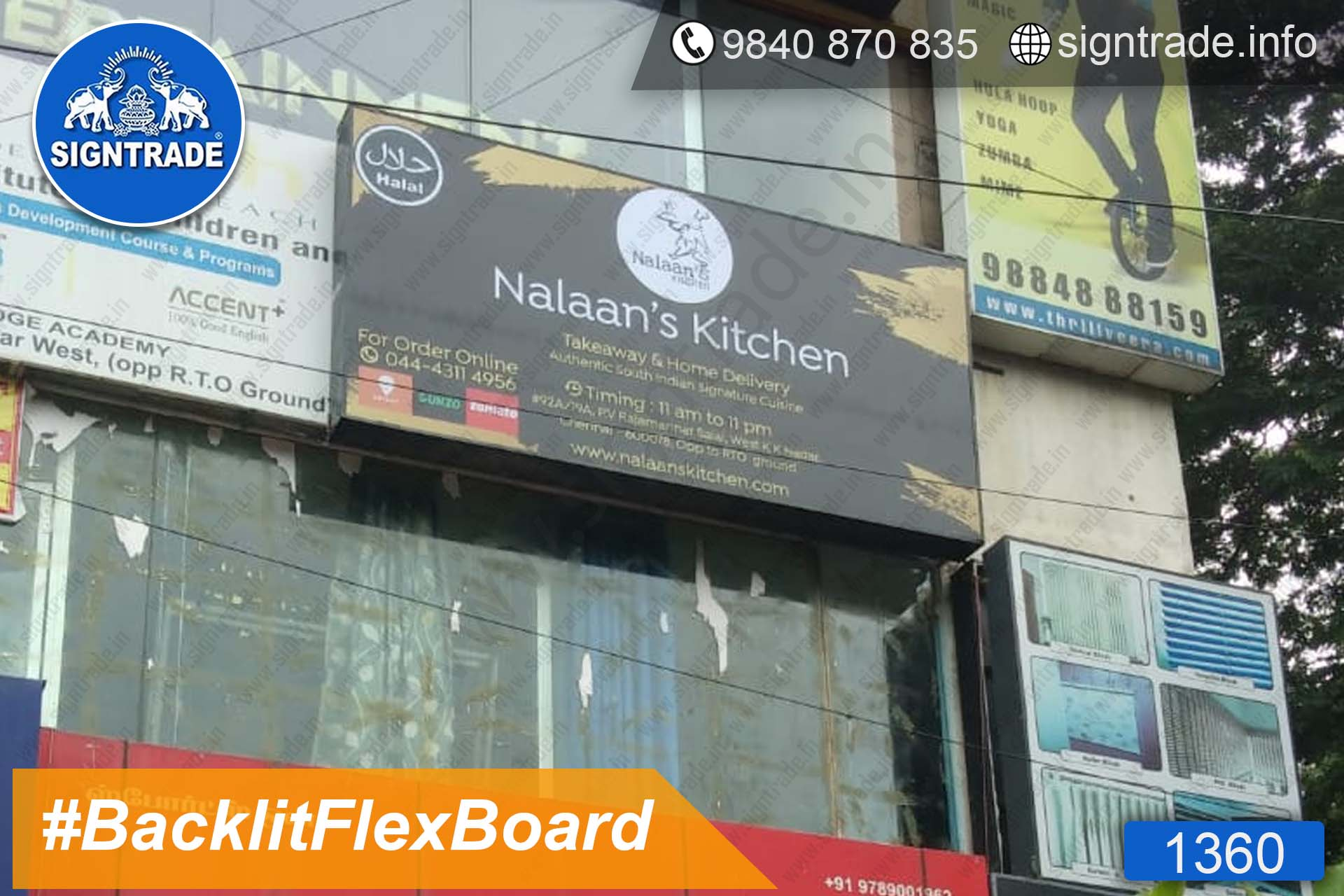 Nalaan's Kitchen, KK Nagar, Chennai - SIGNTRADE - Backlit Flex Board Manufactures in Chennai