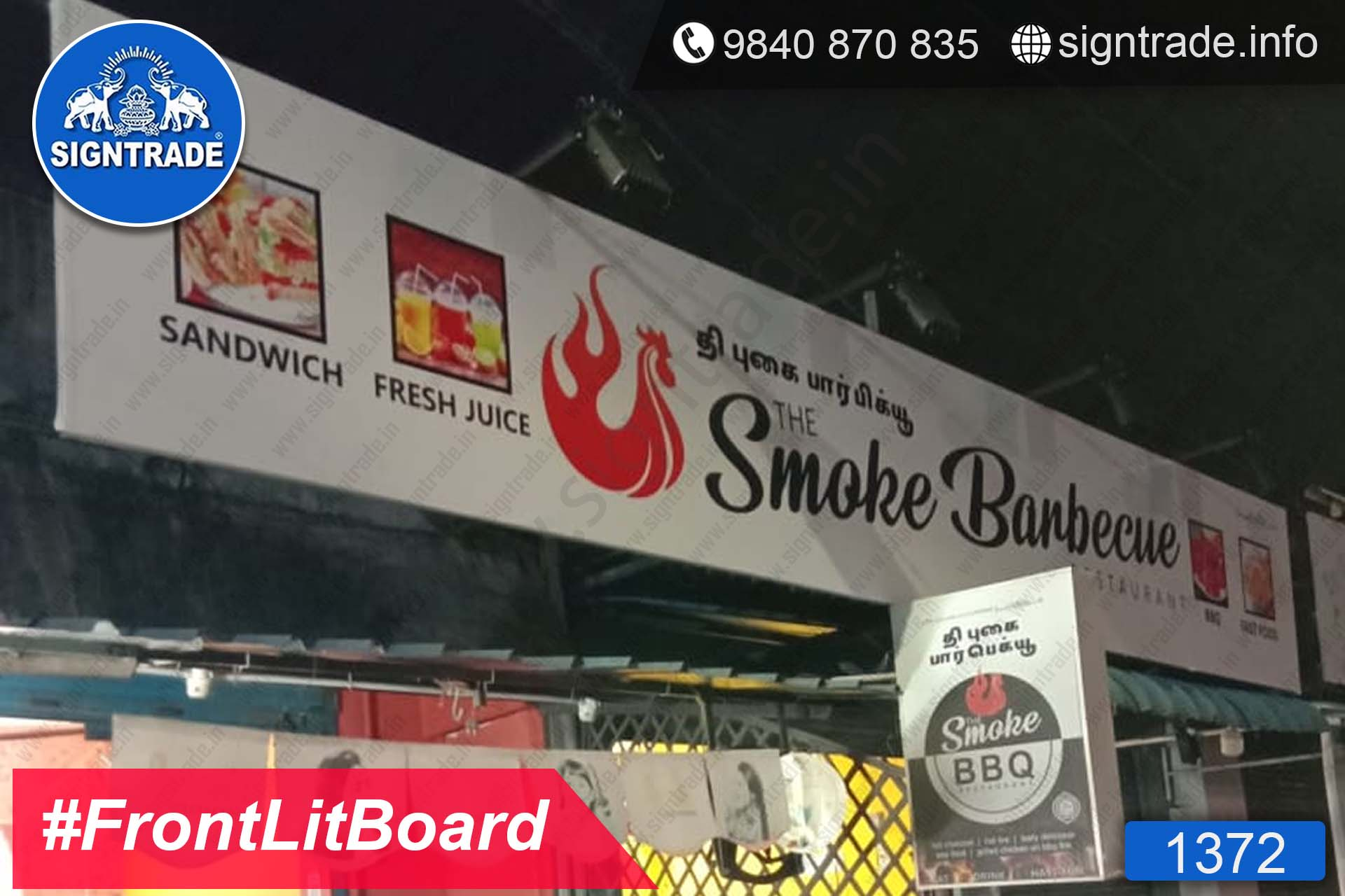 The Smoke Barbeque - Chennai - SIGNTRADE - Frontlit Flex Board - Digital Printing Services in Chennai
