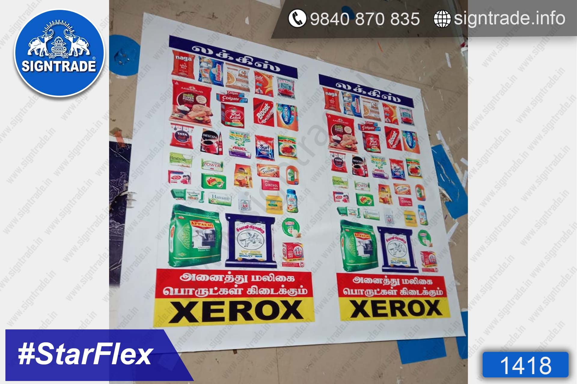 luckys xerox - 1418, Flex Board, Frontlit Flex Board, Star Frontlit Flex Board, Frontlit Flex Banners, Shop Front Flex Board, Shop Flex Board, Star Flex