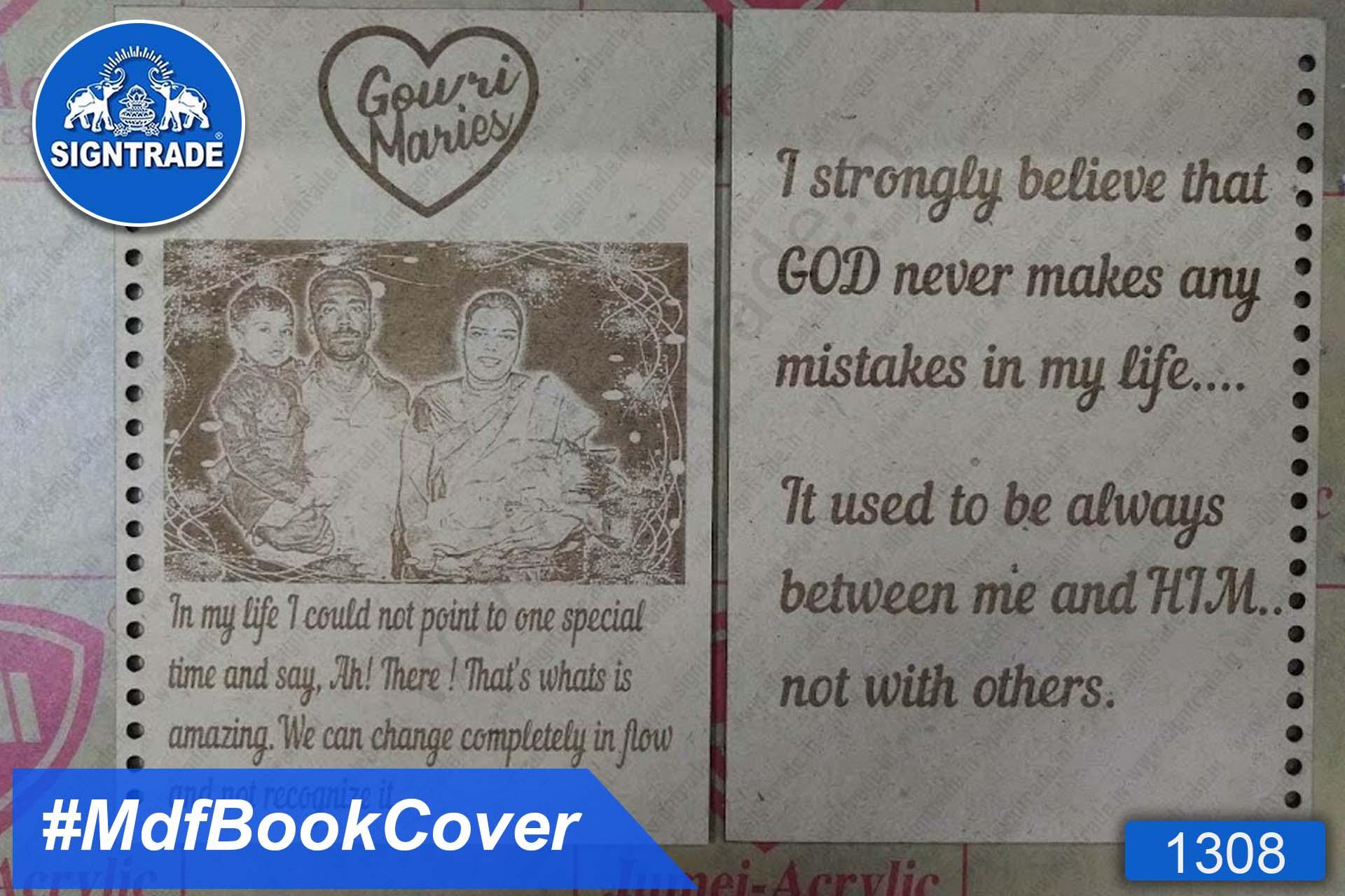 MDF Spiral Note Book Cover