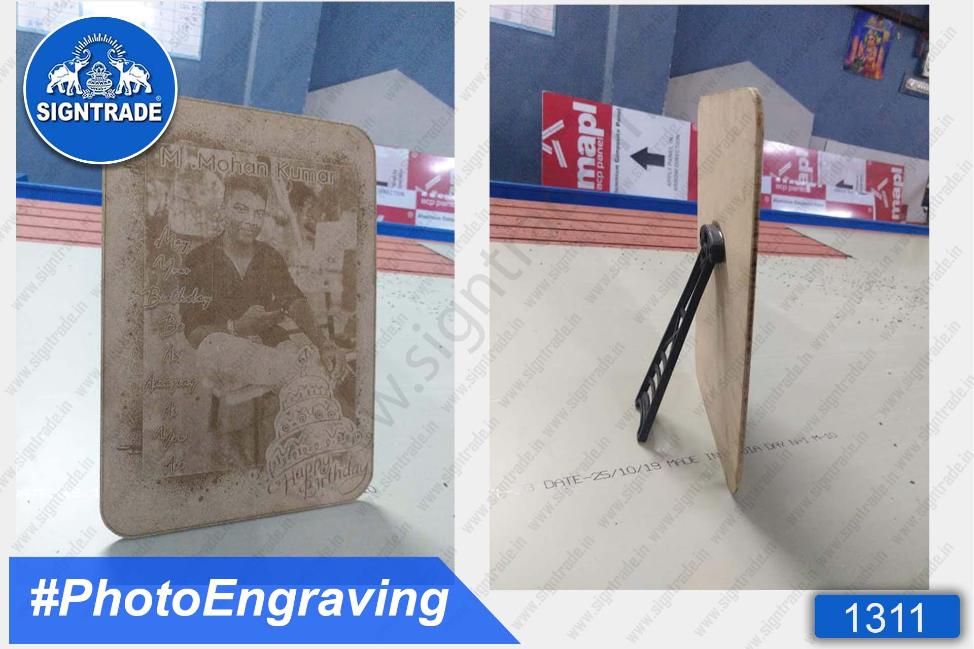 MDF Photo Engraving with Stand