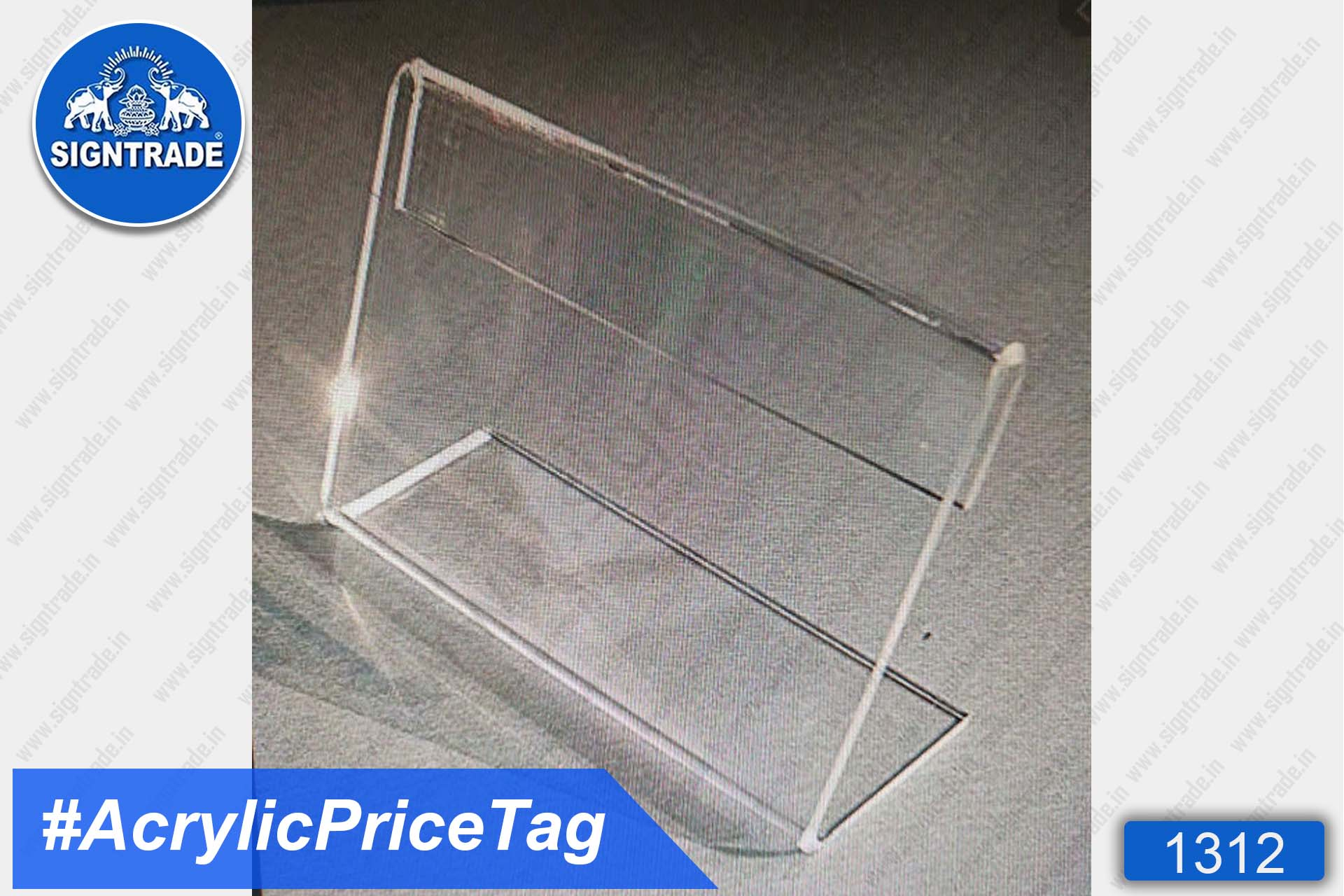 Clear Acrylic Price Tag