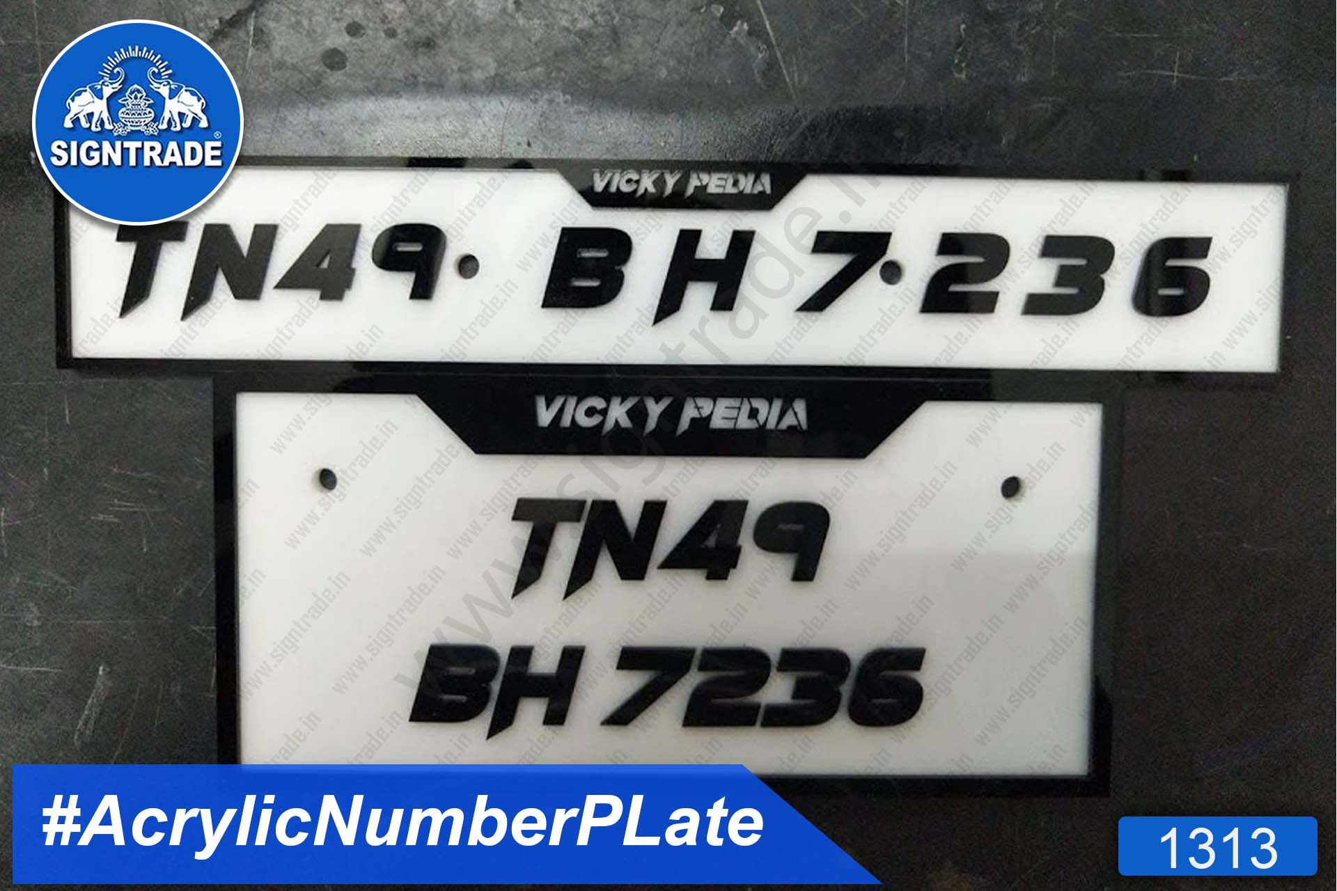 Acrylic Vehicle Number Plate