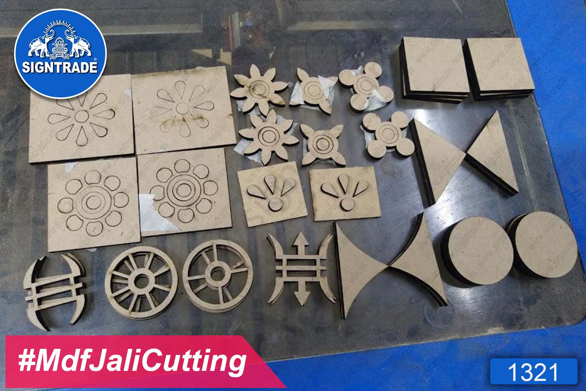 MDF Jali Cutting Flower Cutting