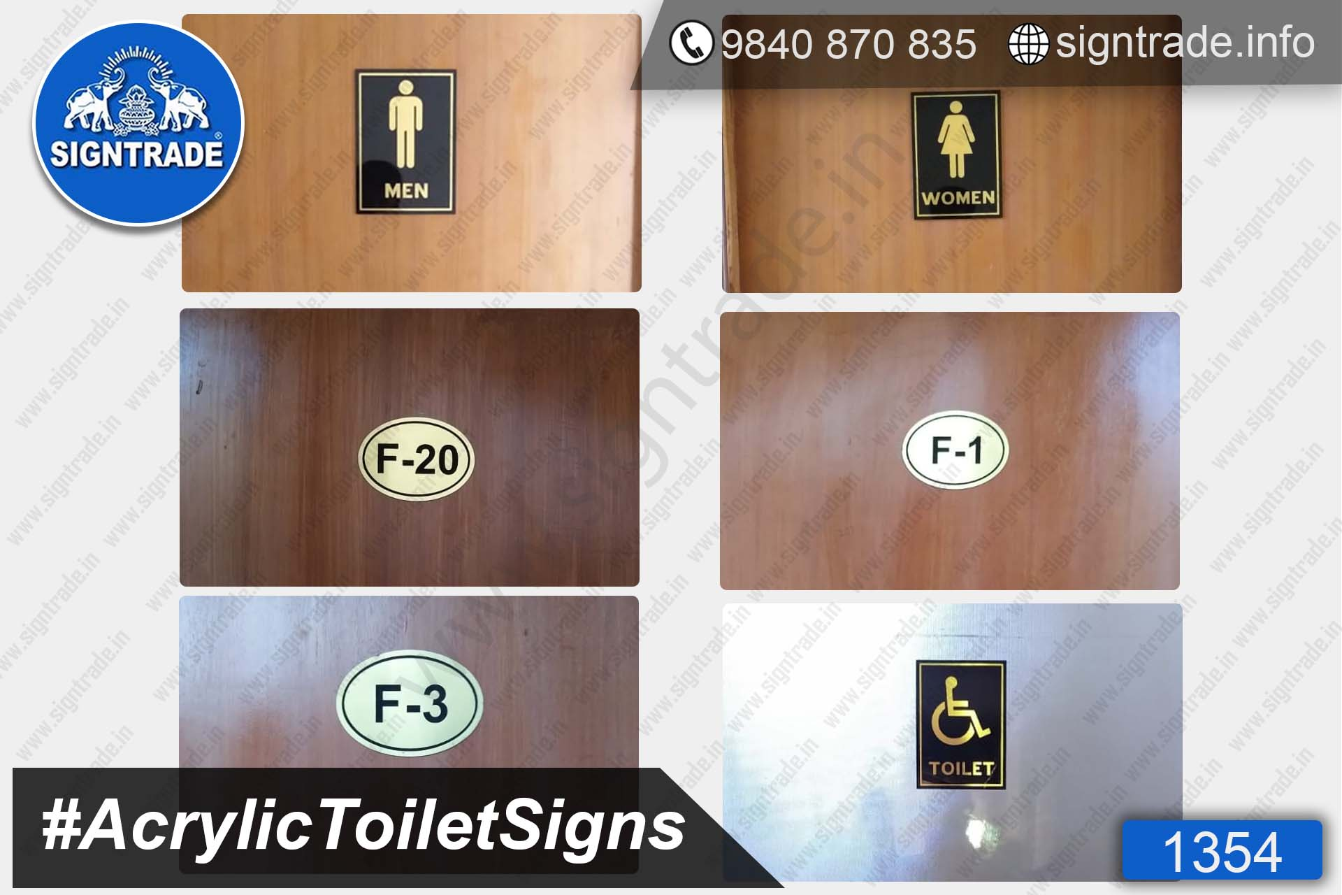 Acrylic Toilet Signs