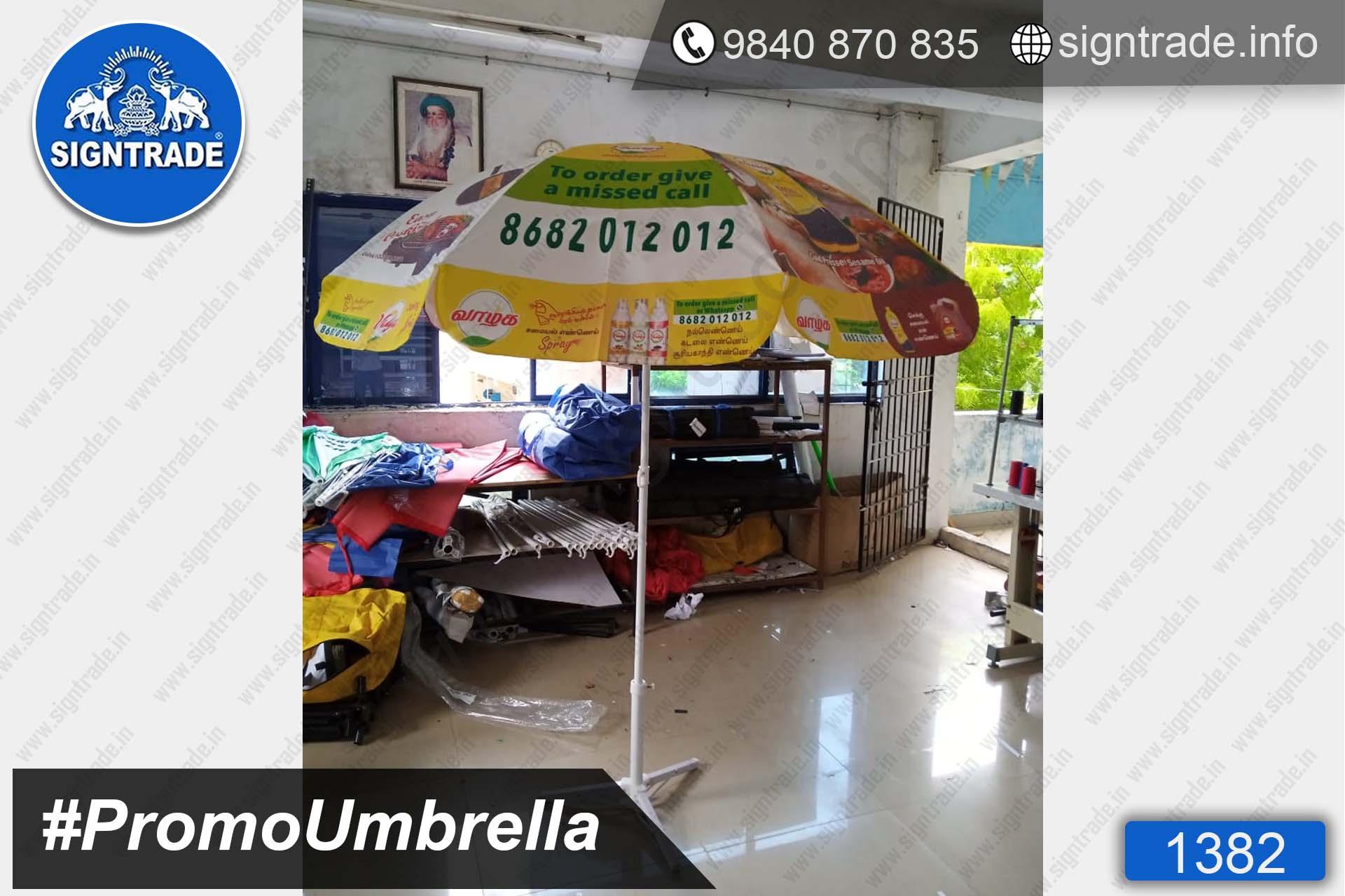 Vaalga Cooking Oil Spray - 1382, Promotional Umbrella, Umbrella, Promo Umbrella, Advertising Umbrella, Big Umbrella, Large Umbrella, Printed Umbrella