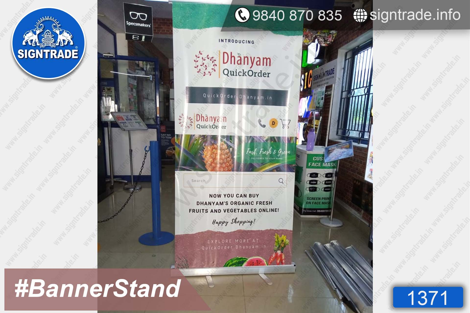 Dhanyam - Quick Order - 1371, Retractable Banner, Roll Up Banner Stand, Banner Stand, Roll Up Banner, Standee, Promotional Standee, Promotional Roll Up Standee, Promo Standee