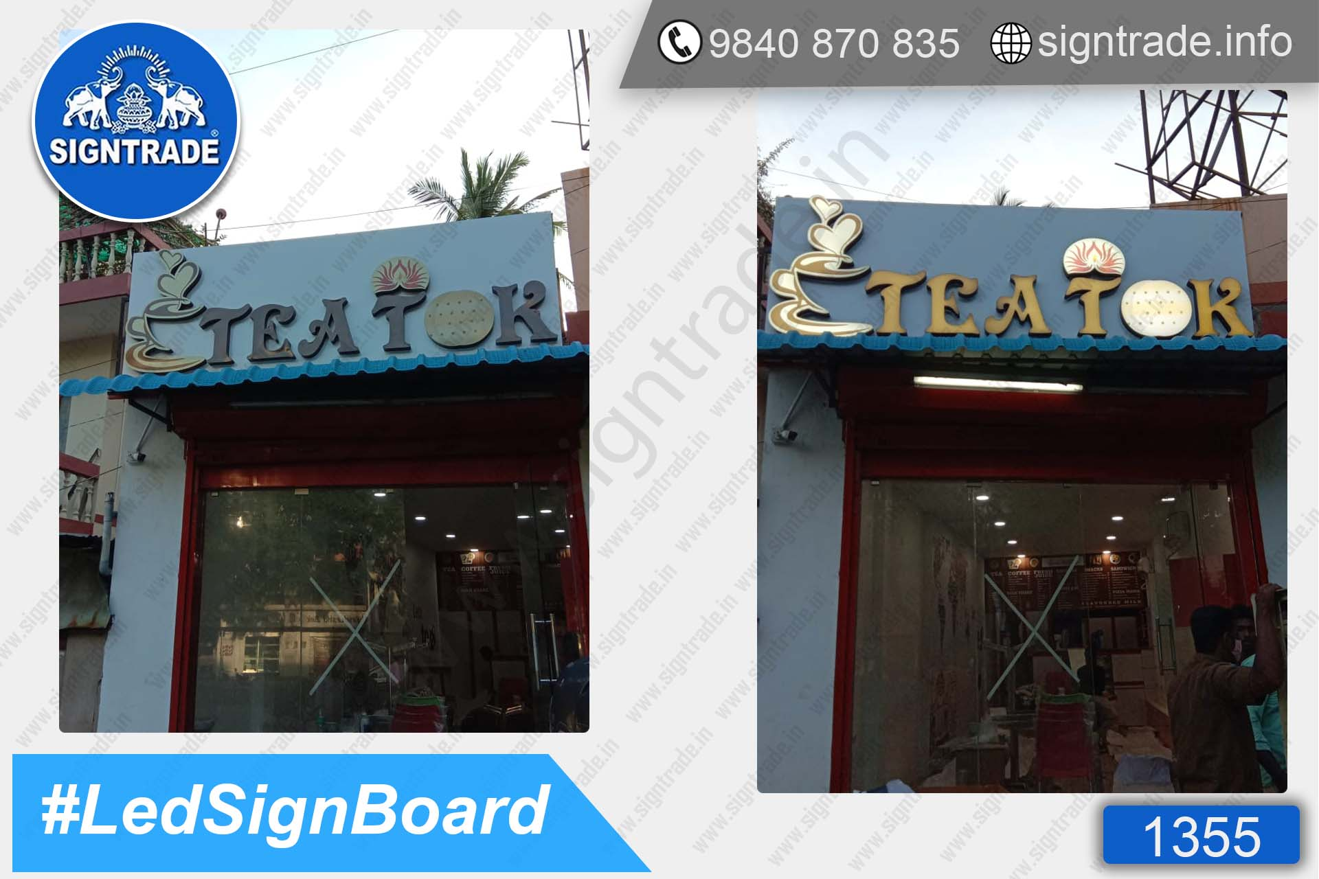TEA TOK sign board