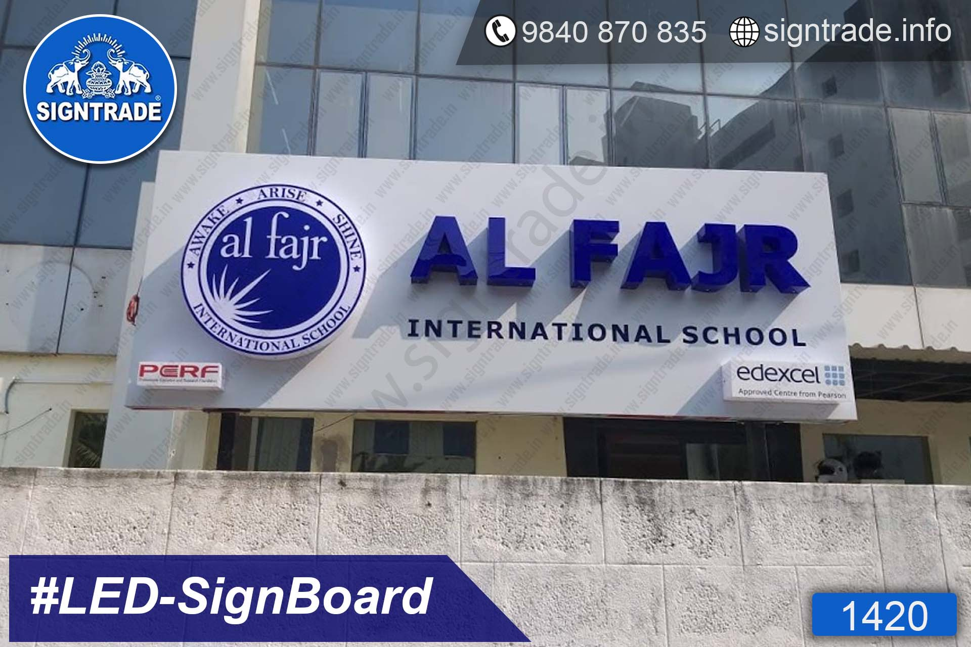 AL FAJR - International School - PGN Sports - 1419, LED Sign Board, Sign Board, Acrylic Sign Board, Glow Sign Board, Custom Sign Board