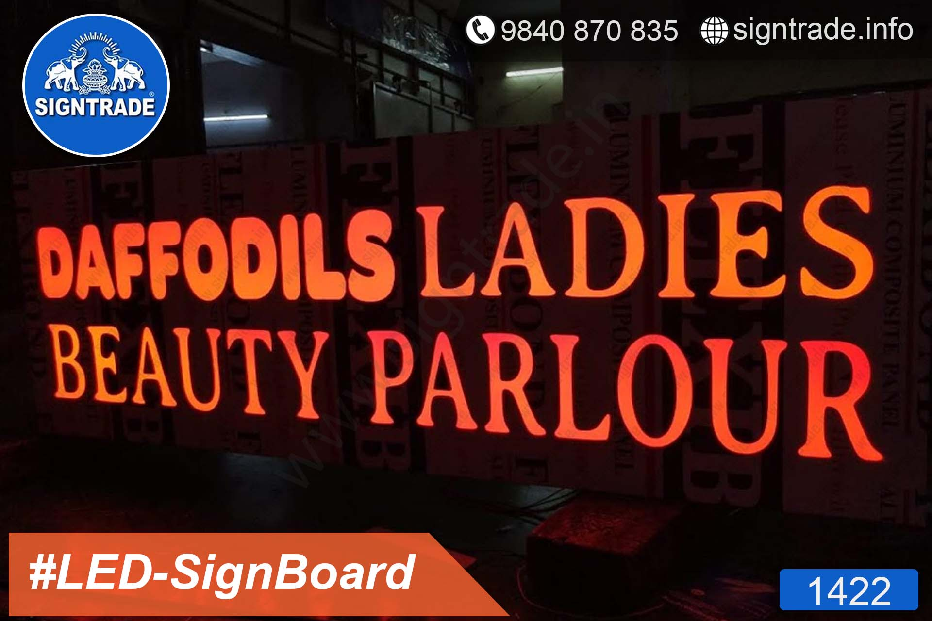 DAFFODILES LADIES BEAUTY PARLOUR - 1422, LED Sign Board, Sign Board, Acrylic Sign Board, Glow Sign Board, Custom Sign Board