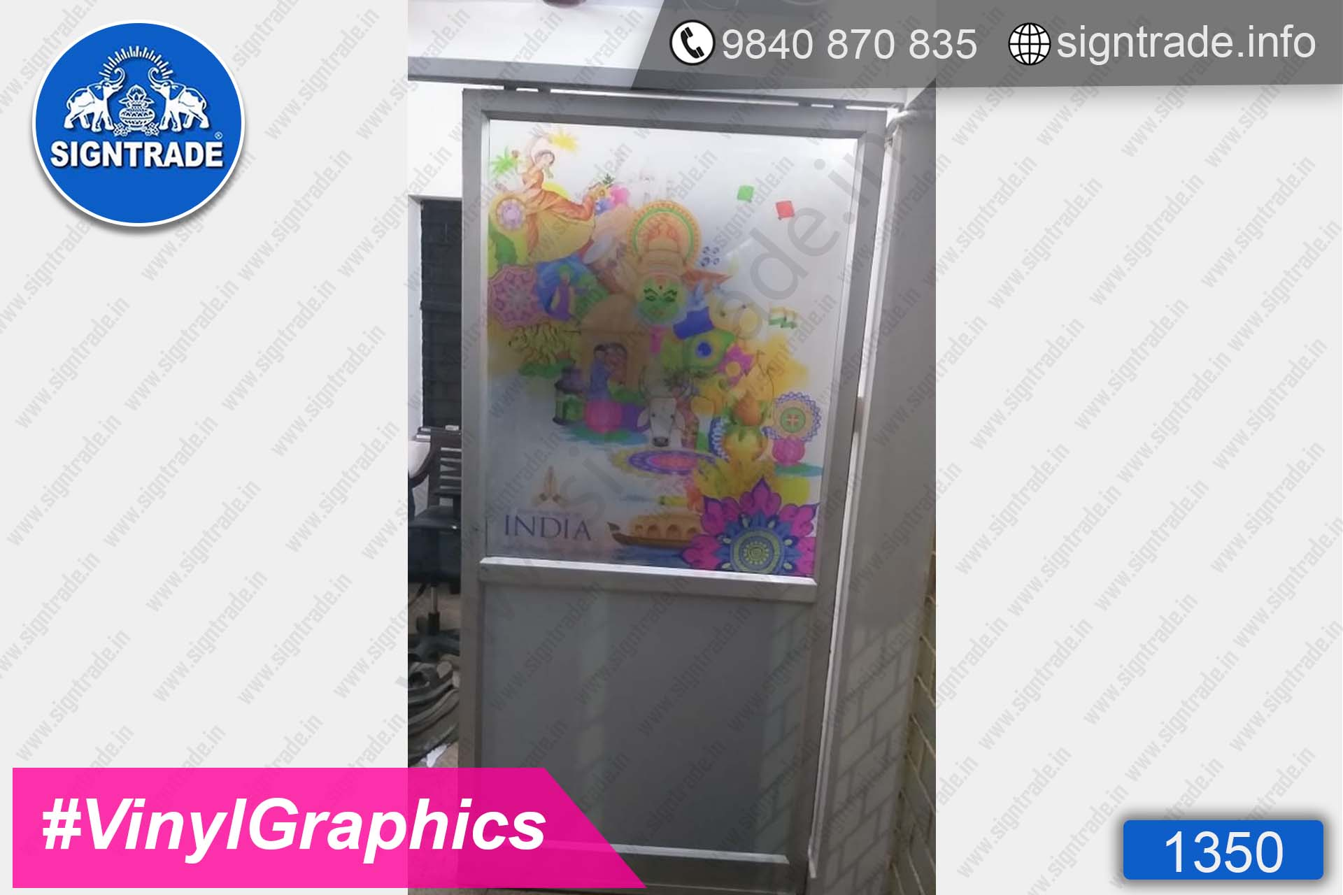 RotiRam Vinyl Graphics on Glass Door