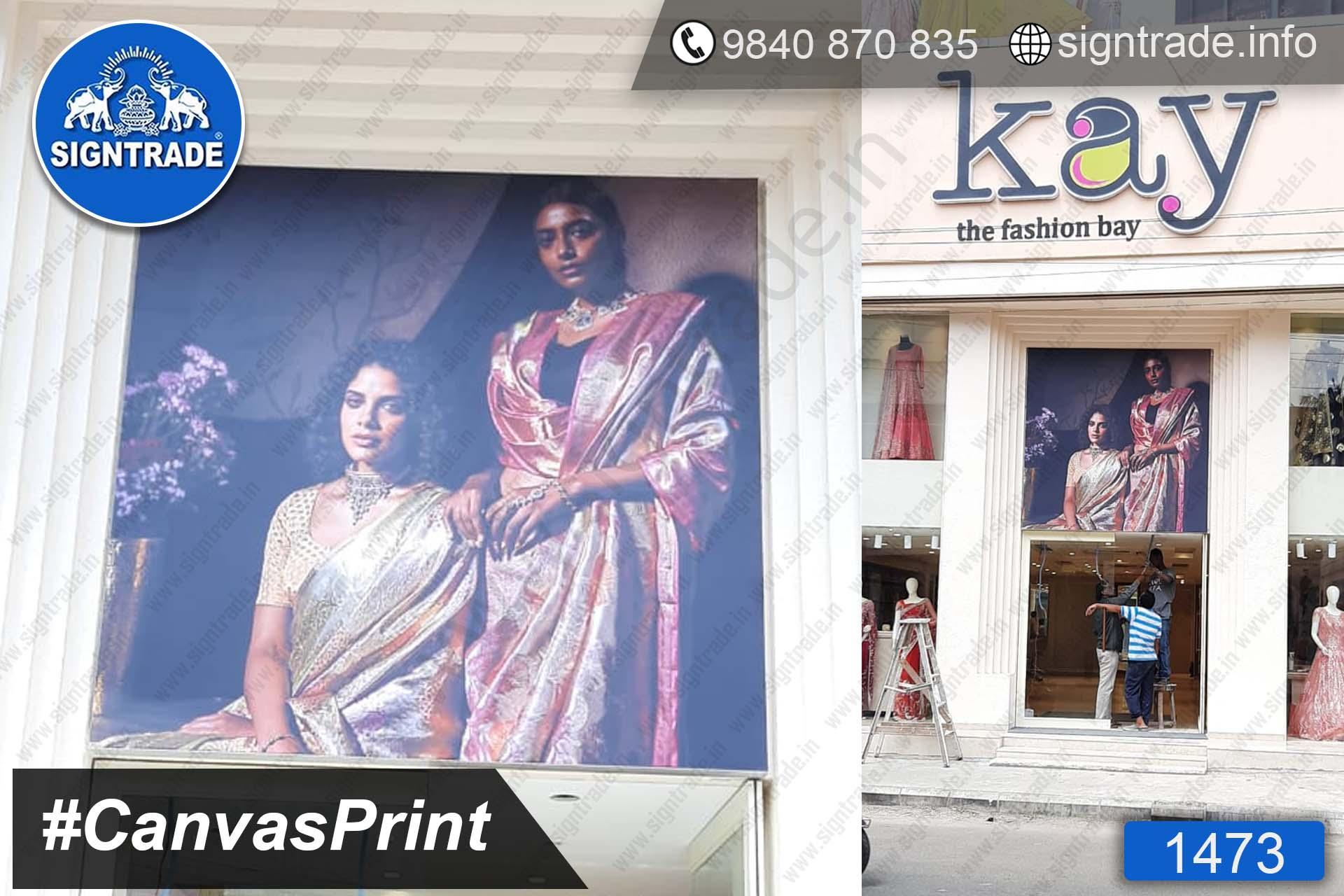 Kay The Fashion Bay - Canvas Print, SIGNTRADE - Digital Printing Service in Chennai
