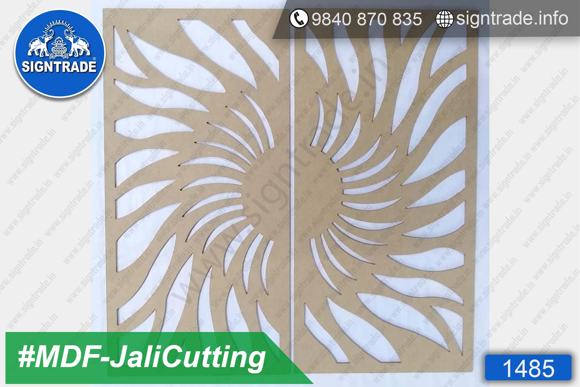 MDF Flower Cutting, MDF Jali Cutting - SIGNTRADE - MDF, Wood CNC Cutting Service in Chennai